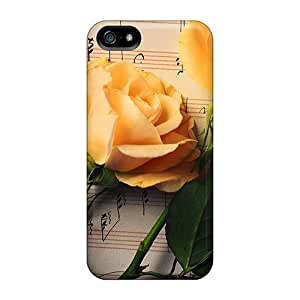 Bernardrmop Design High Quality Flowers Music Cover Case With Excellent Style For Iphone 5/5s