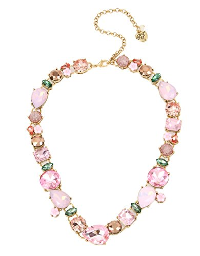 Betsey Johnson Marie Antoinette Mixed Faceted Stone & Flower Collar Necklace