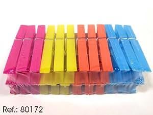 Asekible - Jgo 24 pinzas pequeñas plastico (INDICAR UN COLOR) col