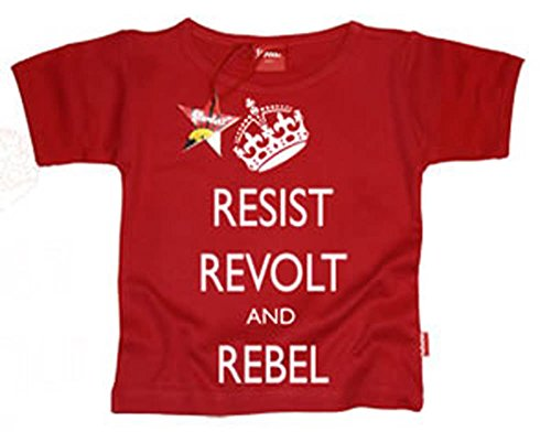 Impermable, Rvolte & Rebel Enfants T-shirt - Rouge, Garon, 0-6 Mois