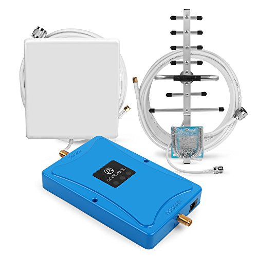 Cellular Amplifier Repeater - ANNTLENT 4G LTE 700MHz Cell Signal Booster Cellular Mobile Repeater Amplifier work for Verizon (Panel +Yagi Antenna)