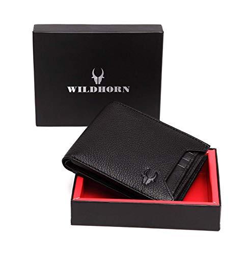 WildHorn Black Men's Wallet (WH1252)