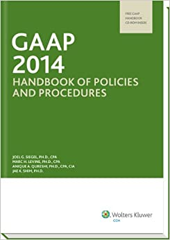 GO Downloads GAAP Handbook of Policies and Procedures (w/CD-ROM) (2014) (GAAP Handbook of Policies  Procedures) by Ph.D., CPA Joel G. Siegel