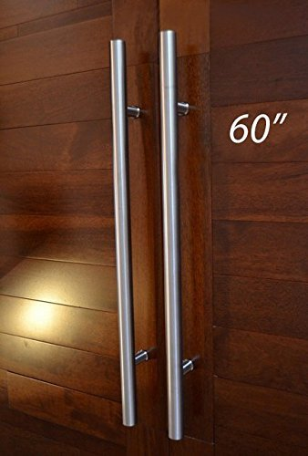 Pull Push 60 Inches Handles For Entrance Entry Front Door, Interior And  Exterior, Satin