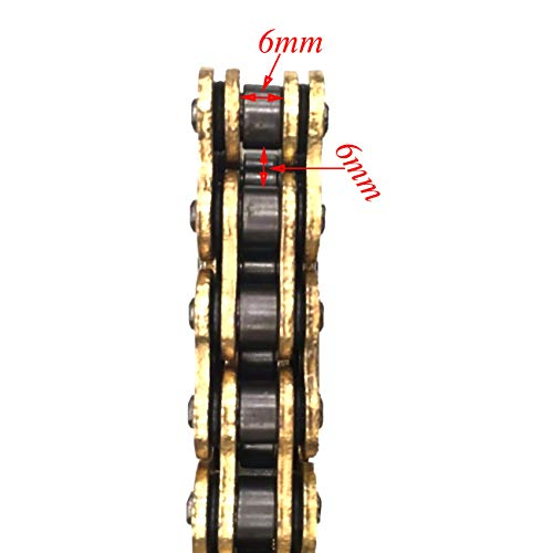 JCMOTO D.I.D 520 O Ring Chain 120 Link For Yamaha YZ125 YZ250 YZ250F YZ450F WR450F Gold by JCMOTO (Image #3)