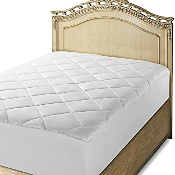 Amazon Com Downright 100 Cotton Top Mattress Pad Queen