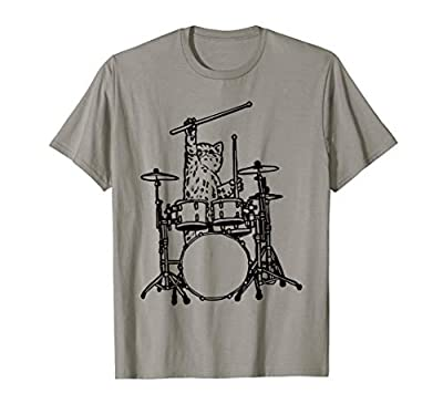 In My Head My Cat Always Play Drums Funny T-Shirt