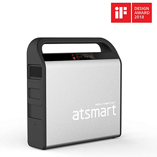 atsmart 100W Portable Power Station Solar Generator, Emergency Backup Lithium Battery Professional Jump Starter with 9-outlets Type-C Quick Charge Port for CPAP Uncategorized