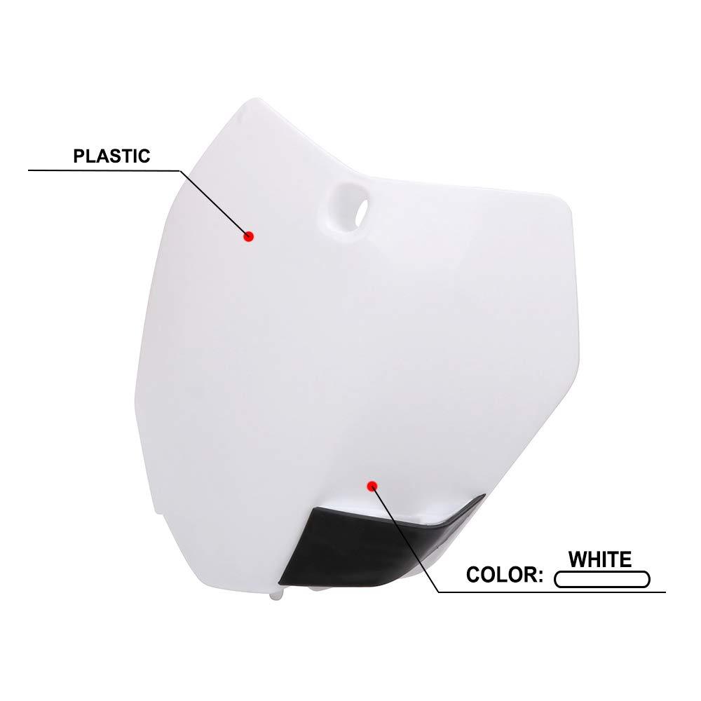 AnXin Plaque dimmatriculation Avant en Plastique ABS pour K.T.M 125 150 200 250 300 350 450 SX SXF XC XCF XCW XCFW SX-F450 /Édition Usine