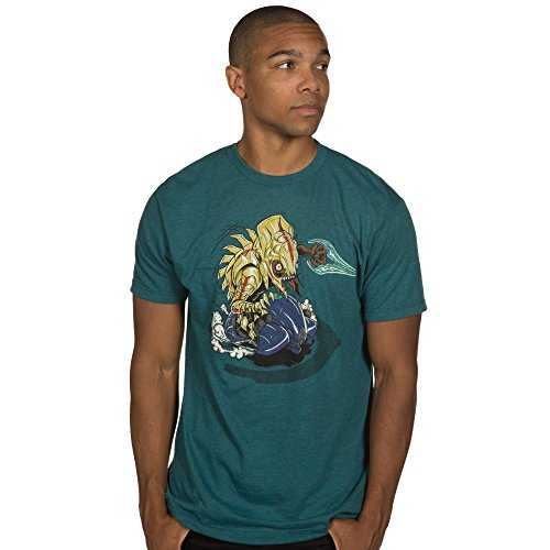 tter Spree Premium Cotton/Poly T-Shirt (Cyan Black Heather, X-Large) (Splatter Premium T-shirt)