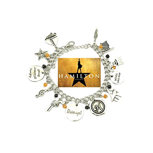 Hamilton Broadway Musical Theme Multiple Charms Bracelet w/Gift Box by Superheroes