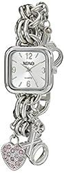 XOXO Women's XO7027 Silver Dial Silver-tone Charm Bracelet Watch