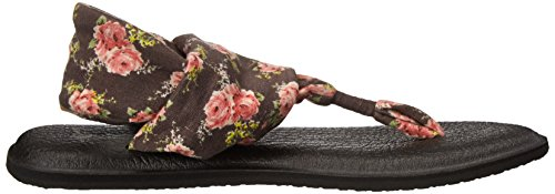 Flop Floral Sanuk Sling Yoga Flip Charcoal 2 Women's qPBXAwPR