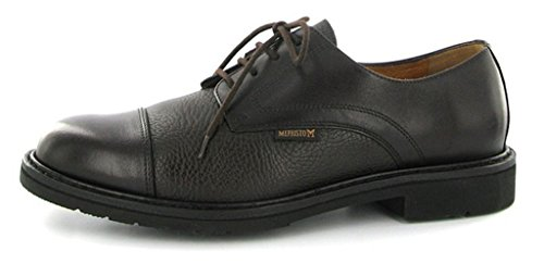 Mephisto Men's Melchior Oxford, Dark Brown Smooth/Grain, 10.5 M - Fashion Scottsdale