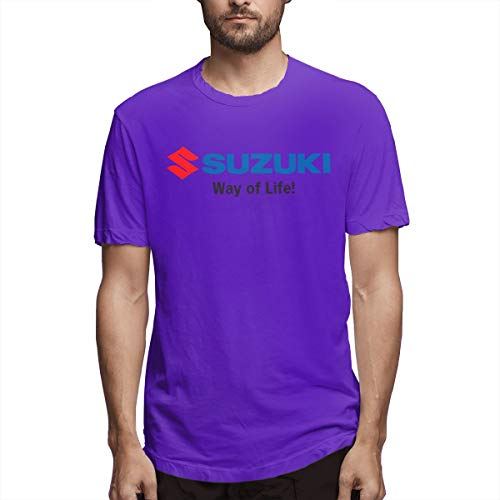 (RuigeHongke Suzuki Logo T Shirt for Adult Purple 34)