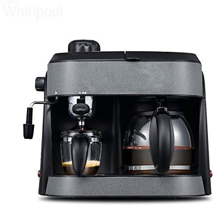 Cafetera Máquina de café exprés está llena de vapor comercial ...