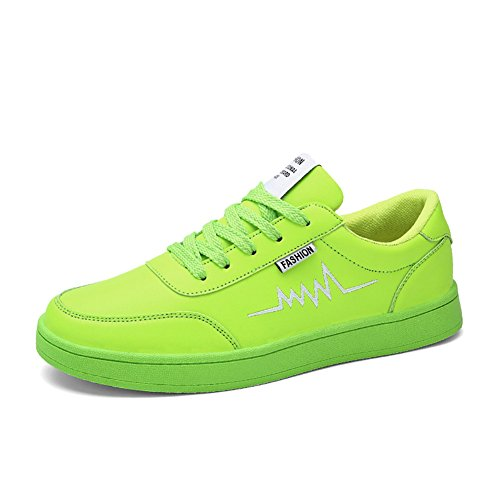 Führershow Herrenmode Breathable Skate Schuh Casual Sport Lace Up Sneaker Grün