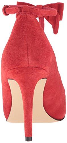 Nine West Women's Hollison Suede Dress Pump Red 8eFugt
