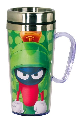 Looney Tunes Marvin The Martian Insulated Travel Mug, Green