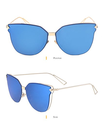 GEELOOK Womens Retro Vintage Mirrored Aviator Sunglasses Metal Frame Classic - Reyban Sunglass