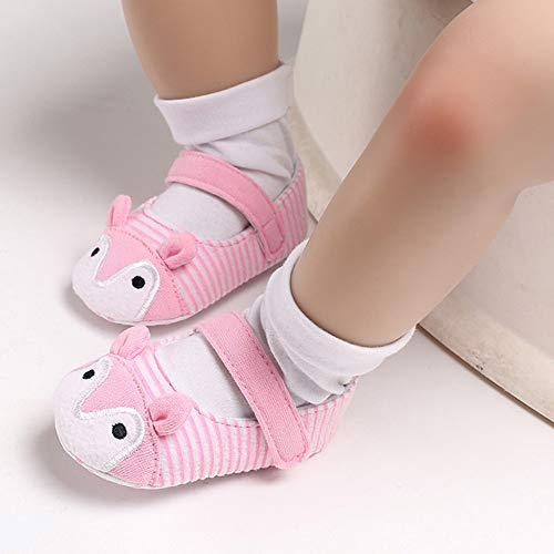 NUWFOR Infant Newborn Baby Girls Prewalker Cartoon Animal Ears Soft Sole Single Shoes(Pink,6~12 Month) by NUWFOR (Image #8)