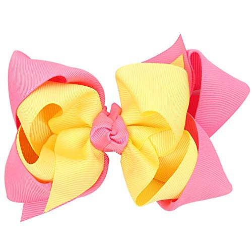 - 5 Inch Double Layer Hair Bow Girls Hair Accessories With Clips Grosgrain Ribbon Hairpins Multicolor Optional 13