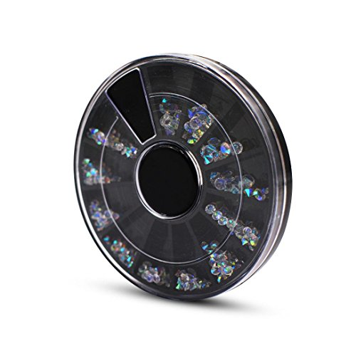 Jewelry Wheel Decoration WuyiMC Nail Art Different Designs Rhinestone Acrylic Crystal Case Micro Easy Cute 3D DIY Decorations Jewelry Wheel
