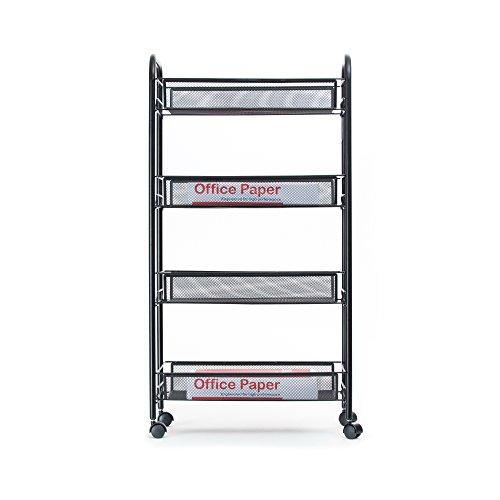 Mind Reader Metal 4 Tier all-Purpose Utility Cart, Black by Mind Reader (Image #5)