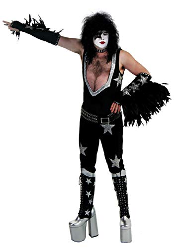 Authentic Paul Stanley Costume Large/X-Large Black