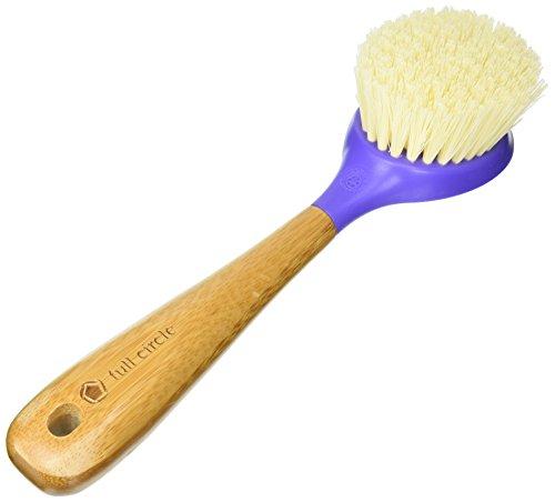 Full Circle Be Good - Kitchen Dish Brush with Bamboo Handle, (Purple Handle)