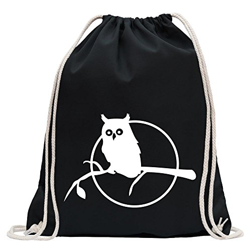 (Owl on a branch - Owl on a branch Fun sport Gymbag shopping drawstring)