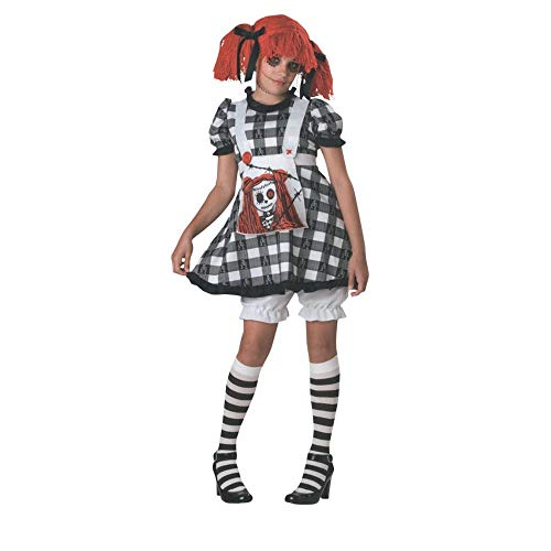 Scary Raggedy Ann Halloween Costumes Girls - Tragedy Anne Costume - Large by