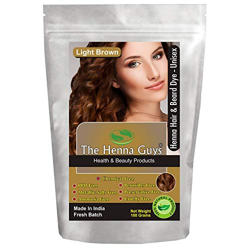 1 Pack Light Brown Henna Hair & Beard Dye/Color - The Henna Guys