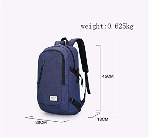 casual blu da da Xiuk Multipockets Usb 40litros per Confortevole Resistant tipo Zaino montagna Zaino Sport viaggio uomo School fxw6Tpp
