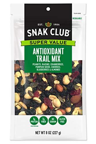 Snak Club All Natural Antioxidant Trail Mix, Non-GMO, 8-Ounces, 6-Pack