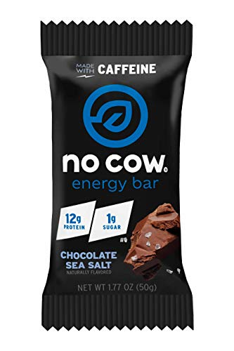 No Cow Chocolate Sea Salt Energy Bar, 12 Count
