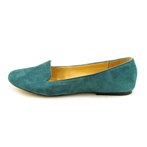 Neuf West Panto Womens Taille 8 Vert Daim Flats Chaussures