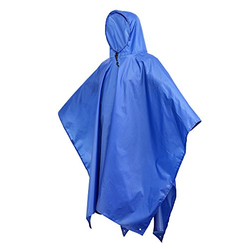 Terra Hiker Rain Poncho, Waterproof Raincoat with Hoods for Outdoor Activities