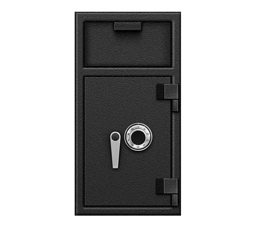 Depository Safe B-Rate Fire-Protection Front Load Hopper Drop Box use at Home, Office, Hotels, Restaurants for Cash, Money, Jewelries, Checks with Combination Lock ()