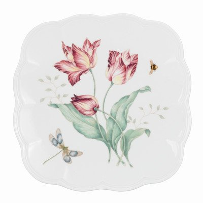 "Lenox Butterfly Meadow 9"" Square Accent Plate"