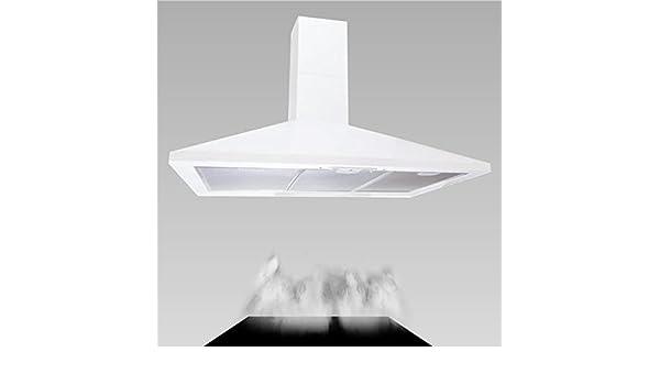HBH – Campana extractora de cocina Pared Blanco 90 cm 600 M3/H D Air Chimenea extensible: Amazon.es: Hogar