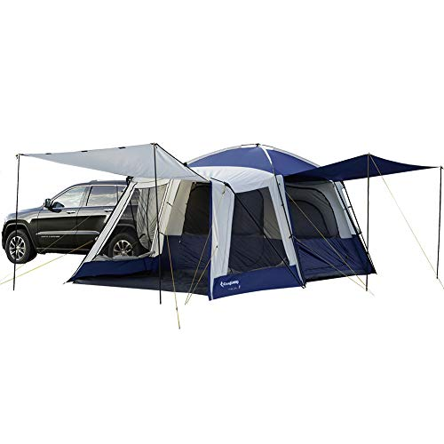 KingCamp Melfi Plus 3 Season 5 Person Multifunctional SUV Car Tent (Blue 2 Room (Side Screen Room))