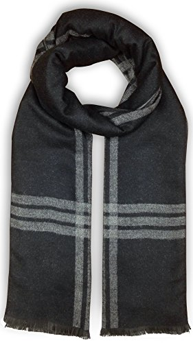 Bleu Nero Luxurious Winter Scarf for Men and Women – Large Selection of Unique Design Scarves – Super Soft Premium Cashmere Feel