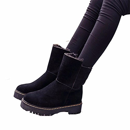 DIDIDD Women'S Snow Boots Thick Bottom Medium Barrel Big Size Outdoor Sports Shoes,39 Eu,Black by DIDIDD