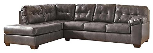 Ashley 20102-16-67 Alliston Sectional Sofa with Left Arm Facing Corner Chaise and Right Arm Facing Sofa in (Corner Facing Sofa Right)