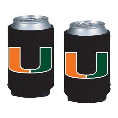 - NCAA Miami - Neoprene Pocket Coolies (2) | Miami Hurricanes Collapsible Beverage Insulators - Set of 2