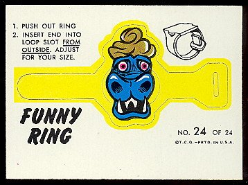 1966 Topps Funny Ring (Football) Card# 24 mr. blech ExMt Condition