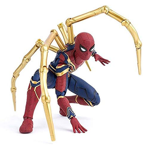 Xiao Yu Yan Avengers Infinity War Iron Spider Spiderman Super Hero Figure Model Toys for Childre