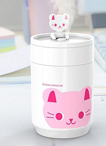 BestFire Coffee Cup Shape USB Air Mist Ultrasonic USB Humidifier Perfect for Office Desktop (Cat) (Humidifier Ultrasonic Usb compare prices)