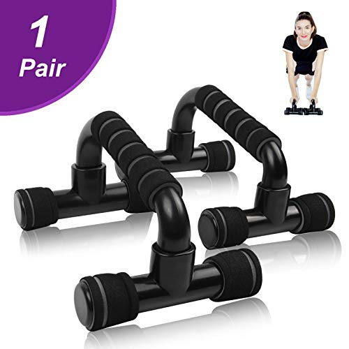 Estleys Push up Bars, Pushup Handle,Pushup Stands, Workout Exercise with Non-Slip Sturdy Structure, 2 Pack, Black